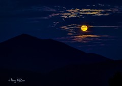 August Full Moon As Peaks Of Otter Looks On (Terry Aldhizer) Tags: moon full august peaks otter blue ridge mountains parkway sky clouds summer evning night terry aldhizer wwwterryaldhizercom