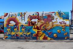 Brooklyn - Coney Art Walls: Bana Split Hot Diggity Dogs by Sheryo & The Yok (wallyg) Tags: bananasplithotdiggitydogs brooklyn coneyartwalls coneyisland kingscounty newyork newyorkcity ny nyc sheryo sheryotheyok sheryoandtheyok streetart theyok theyoksheryo theyokandsheryo mural