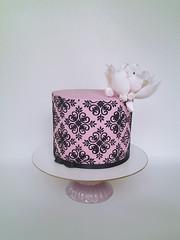 Torta Paris elegante (mycake.nataliacasaballe) Tags: torta paros rosa encaje flor mujer