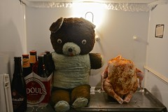 One Afternoon in the Kelvinator (ricko) Tags: chicken beer vintage toy teddybear shinerbock refrigerator kelvinator odouls