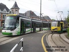 Skoda 26T 610 + Tatra KT8D5 205 Miskolc, 2015. 04. 18. (petrsbence) Tags: hungary trams skoda tatra villamos miskolc ttra mvk kt8d5 vast tatratrams