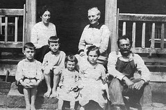 """Family-in-front-of-JT-Denbows-House-CU-c-1917 • <a style=""""font-size:0.8em;"""" href=""""http://www.flickr.com/photos/8583247@N08/16919714447/"""" target=""""_blank"""">View on Flickr</a>"""