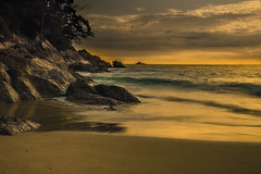 My Favourite Place (Adam Runnalls) Tags: longexposure sunset sea seascape beach landscape thailand nikon rocks asia paradise waves dusk sigma phuket goldenhour d3200 andamanwhitebeach