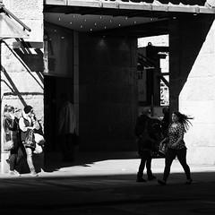 transition (city/human/life (a little bit longer break)) Tags: street door city light shadow blackandwhite bw woman white black shopping germany hair walking deutschland licht spring nikon waiting candid wand streetphotography stadt april nrw sw frau dsseldorf altstadt oldtown schatten tr schwarz geschft kaufhof fassade frhling chl knigsallee mensch einkauf haar 2014 weis fussgnger d90 sonnenlicht schwarzweis nikond90 cityhumanlife