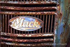 Mack (99baggett) Tags: white classic truck ga vintage georgia junk automobile antique junkyard mack 2015 oldcarcity jmb1950