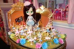 My Birthday Girl!!! (Primrose Princess) Tags: pink paris cake ballerina doll lolita kawaii kenner blythe 1972 tutu 1972kennerblythedoll parisiennechic dollydreamland embroideredsilkcorset brunettekennerblythedollbrunettevintage vintageballerinacaketopper