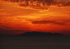 Sunset over Lipari Islands (petrk747) Tags: voyage cruise sunset red sea italy sun travelling clouds sunrise island coast shore coastline seashore saariysqualitypictures
