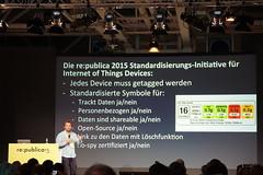 re:publica 15 Tag 3: noch ein engagierter Vortrag zum Internet of Things. Damit wir die Hoheit behalten: Vorschlag für ein IoT Produkttag.
