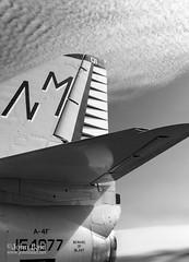 Beware of Blast (95031-BW) (John Bald) Tags: california sandiego deck jetengine aircraftcarrier naval usnavy blast carrier ussmidway fighterjet vintageairplane