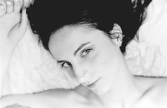 (Stefano☆Majno) Tags: portrait blackandwhite bw film beauty analog canon naked bed model eyes 400 session analogue ilford analogica stefano eleonora naima pellicola filmisnotdead majno shootingfilm