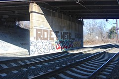 Roet, Neir, Oc, Mime, Smok (NJphotograffer) Tags: graffiti graff new jersey nj trackside rail railroad bridge roet neir roller oc mhs mime smok rip