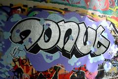 graffiti amsterdam (wojofoto) Tags: amsterdam graffiti streetart wojofoto wolfgangjosten hof amsterdamsebrug flevopark donut nederland netherland holland