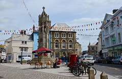 Bunting (Nige H (Thanks for 15m views)) Tags: england english town cornwall launceston townsquare towncentre bunting