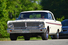 1965 Ford Falcon Sprint convertible (Thumpr455) Tags: auto white ford sc car nikon automobile driving bokeh may southcarolina convertible upstate 300mm telephoto falcon sprint greenville 1965 d800 2015 afnikkor300mmf4 carscoffee worldcars