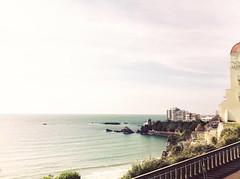 Biarritz (mrjcrr) Tags: ocean city sea sky sun mer france castle beach landscape soleil view horizon ciel chateau paysage plage vue ville biarritz paysbasque sudouest