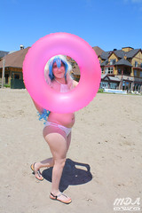 IMG_1703 (MDA Cosplay Photography) Tags: pink blue mountain ontario anime cute beach water pond village collingwood photoshoot princess cosplay tengen manga resort bikini nia swimsuit 2016 toppa gurrenlagann gurren lagann bikinicosplay teppelin gurrenlaganncosplay niacosplay yeticon