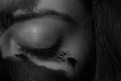 was it all a dream? (fenia_ps) Tags: blackandwhite selfportrait black monochrome dark blackwhite paint grunge gray mascara smudged