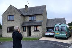 Liz arrived in her campervan! (Margaret Stranks) Tags: timberland campervan quenington gloucestershire uk