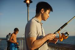 Reel (dtanist) Tags: nyc newyork newyorkcity new york city sony a7 konica hexanon ar 50mm brooklyn coney island boardwalk fisherman fishing rod poll reel sea ocean steeplechase pier