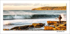 Wave and photographer (jongsoolee5610) Tags: seascape maroubra sea wave sydney australia photographer