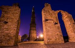 QInar (kavyaphotography) Tags: sky india monument architecture star minaret delhi bluehour qutub minar mughal
