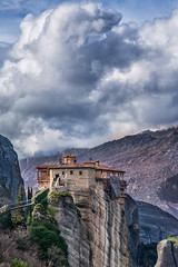 Meteora (mika_wist) Tags: greece meteora mountains clouds monastery cliffs