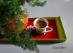 Tea Time (Veena Nair Photography) Tags: stilllife diy tea teatime chai homesweethome acrylicpainting stilllifephotography simplejoy handpaintedtray chaitime handpaintedpot monsoondiaries veenanairphotography