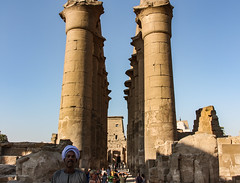 Temple of Luxor (claugrodriguez) Tags: temple sand ancient exterior desert outdoor pillar egypt column luxor architecturalphotography architecturalelement
