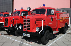 Borgward fire trucks (The Rubberbandman) Tags: world auto classic water truck vintage germany fire tank outdoor engine meeting historic german ao fighting feuerwehr department tender dept brigade fahrzeug wilhelmshaven borgward laster b2500 tlf8