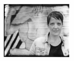 Ruth - London 2016 (Andrew Bartram (WarboysSnapper)) Tags: portrait london film instant analogue bellows eastend 5x4 peelapart new55 believeinfilm intrepidcamera