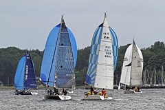 """One Group"" Figaro 2 - ""Karma"" Dehler 36 SQ - ""Windhexe"" X-34 - ""Lottchen"" Hanse 350 R (winchman2010) Tags: sailing segeln regatta yachts boats kiel baltic ostsee welcomerace"