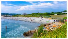 Bailey's Beach (Timothy Valentine) Tags: flowers people beach fence us unitedstates flag large rhodeisland newport cliffwalk 2016 0716 clichesaturday