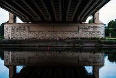 325/365 Under the Bridge (ewitsoe) Tags: poland warta river bridge under redballoon water people hanginout reflection 365 ewitsoe nikond80 35mm street urban city citylife evening dusk sunset saturdaynight calm poznan summer
