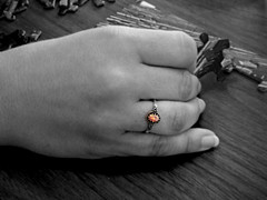 Jigsaw Puzzle 2 (Photo Squirrel) Tags: puzzle jigsawpuzzle grayscale artistic ring hand woman