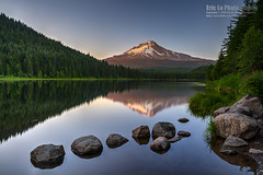 trillium lake (Eric 5D Mark III) Tags: ef2470mmf28liiusm canon sony a7r2 ericlo photography landscape lake mountain reflection sunset rock water tree ef2470l2 ilce7rm2 metabones eftonex smartadapter mthood trilliumlake governmentcamp oregon unitedstates usa