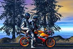 Motorcycle friends. (driver Photographer) Tags:   aprilia cagiva honda kawasaki husqvarna ktm simson suzuki yamaha ducati daytona buell motoguzzi triumph bmv driver motorcycle leathers dainese