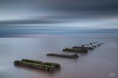 Washed out (Steve Clasper) Tags: hartlepool beach steetley coast coastal longexposure northeast northern north uk steveclasper nd110 seascape supports wood steetleypier steetleybeach