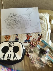 My Disney prize from Disney Polar on twitter (Elysia in Wonderland) Tags: disney polar giveaway twitter youtube goodie bag prize win winner won winning competition mickey mouse makeup oh boy primark lego legos toys stickers donald duck goofy pluto mirror minnie postcard cheshire cat drawing sketch