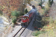 OL-2 rolls East toward Hornell, NY with C424 #4228 on the point and C430 #431 trailing. (u18b404) Tags: alco c424 c430 431 4228 wnyp