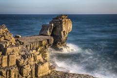 Pulpit Rock at Portland, Dorset, UK (Nick L) Tags: pulpitrock portlandbill portland portlandstone longexposure goldenhour sea landscape seascape geology rocks sky sunset