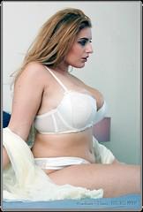 Arabella Lingerie IV (zweiblumen) Tags: arabella model lingerie cleavage voluptuous belper derbyshire england uk canoneos50d canonspeedlite430exii canonef50mmf14usm lastoliteflashumbrella zweiblumen