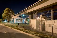 85 RI (Ron Rothbart) Tags: bart california elcerrito npy elevatedtracks industrial night nightphotography pipes starburst