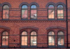 red's the colour (daniel.virella) Tags: stockholm sweden reflexes windows building architecture picmonkey