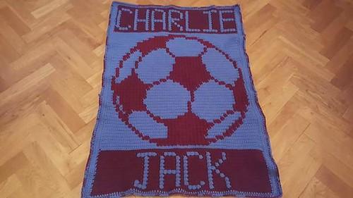 Burnley Football blanket for Charlie Jack