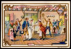 Liebig Tradecard S417 - A Flemish Marriage (cigcardpix) Tags: tradecards advertising ephemera vintage liebig chromo wedding marriage