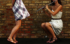 Urban Sashay (coollessons2004(almost completely off)) Tags: urban dance dancing danseuse dancer music flute flutist
