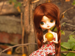 Plums (Malina (LaelP)) Tags: doll puppe mueca poupe pullip dal groove frara my select cassie cassidy obitsu 23 obitsu23 green eyes chips red hair toy malina asian fashion dress flowers outdoor people