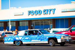 Food City (Thomas Hawk) Tags: arizona cadillac cadillaccoupedeville coupedeville foodcity mesa usa unitedstates unitedstatesofamerica auto automobile car neon supermarket fav10 fav25 fav50
