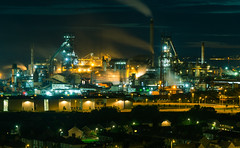 Port Talbot steel works (technodean2000) Tags: port talbot steel works south wales uk night sky line panorama lightroom outdoor city architecture skyline