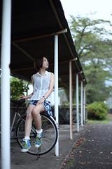 (mikiya_) Tags: 6d canon zeiss planart1450 japan japanese chichibu girl female portrait cloudy bokeh